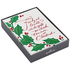 family and friends holly and ivy christmas cards box of 16