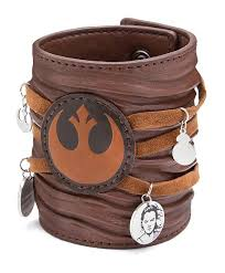 leather cuff bracelet with images Star wars ep 7 rey leather cuff bracelet thinkgeek jpg