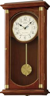 Emperor Grandfather Clock Seiko Quartz Battery Wooden Wall Clock With Westminster