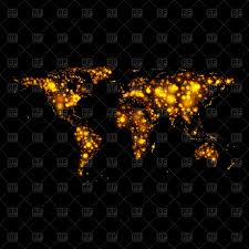 World Map Vector Bright Glowing Abstract World Map Vector Image 92150 U2013 Rfclipart