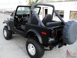 jeep new black jeep cj7 4x4 v8 304 black beach cruiser new classic restoration