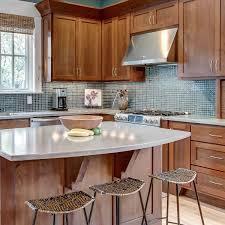 gray brown stained kitchen cabinets 75 blue backsplash ideas navy aqua royal or coastal