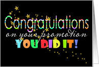 congratulations promotion card congratulations on your promotion cards from greeting card universe