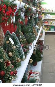 Small Decorated Christmas Trees Uk by Small Artificial Christmas Trees On Sale At A Garden Centre In The