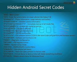 android secrets android operating device secret codes hacks n books