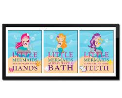 set of 3 little mermaid bathroom rules u0027s bathroom