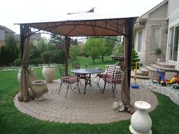 Outdoor Patio Canopy Gazebo by Green Blue Two Seat Patio Swing With Canopy Mixed Brown Wooden