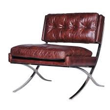 Cigar Lounge Chairs Four Hands Carnegie Heathrow Lounge Chair With Chrome Finished