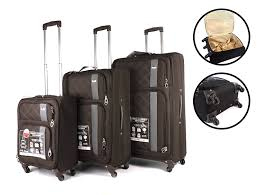 light travel bags luggage brown aero1400 aero travel set of 3 world s lightest spinner