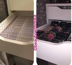 Organizing Makeup Vanity Drawer Organizer Ikea Before And After Using Our Sonny Cosmetics