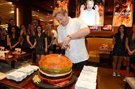 cuisine gordon ramsay chef gordon ramsay toasts the one year anniversary of pub grill