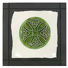 celtic cross wall hanging celtic cross knot ceramic tile wall hanging 7 5