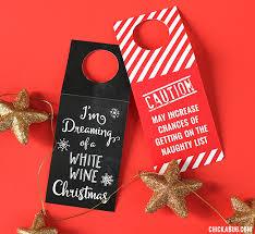 Christmas Wine Free Printable