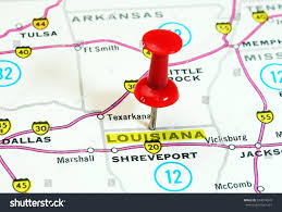 Louisiana State Map by Close Louisiana State Usa Map Red Stock Photo 334074947 Shutterstock