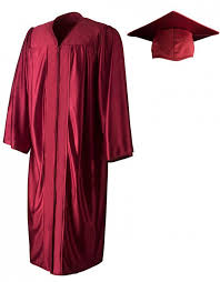 cap gown shiny maroon cap gown graduationsource