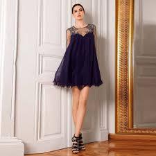 100 navy blue cocktail dress beads elegant lace color navy