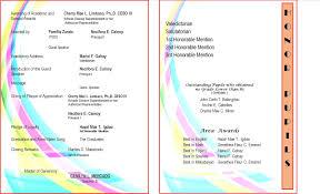 designs free free graduation ceremony program templates with photo