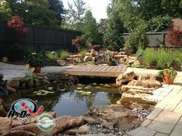 Design Your Backyard by Pond U0026 Waterfall Design Services For Your Backyard Landscape
