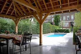 Pool House Garage Eiken Duurzaam Eikenhout Eikenhouten Bijgebouw Bijgebouwen Atelier