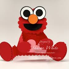 elmo valentines s scrappy space elmo punch card