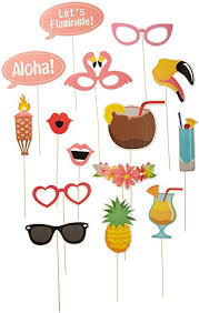 photo booth supplies tinksky 21pcs hawaii themed summer party photo booth