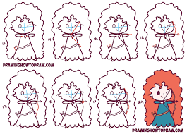 Pixars Learn How To Draw Cute Kawaii Chibi Merida From Disney Pixar U0027s