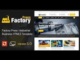factory press industrial business html5 template themeforest