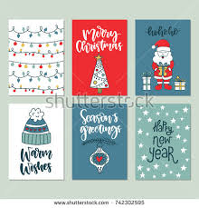 vector greeting card seasons stock vector 532756426