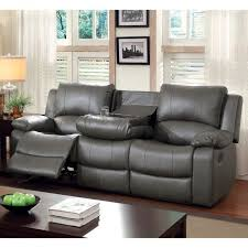 Leather Reclining Sofa And Loveseat Modern Gray Leather Reclining Sofa Loveseat Power Motion Couch
