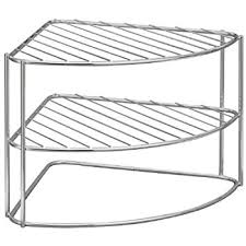 Closetmaid Dish Drainer Closetmaid Chrome Corner Dish Or Plate Rack 58220 Amazon Co Uk