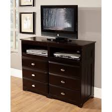 bedroom entertainment dresser american espresso finished pine wood 6 drawer entertainment
