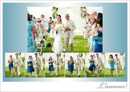 Tropical Theme Wedding - oahu wedding photographer u2013 blue and orange tropical themed