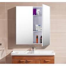 Meuble De Rangement Salle Bain Armoire 1 Miroir Armoire De Toilettes Miroir Meuble Haut Achat Vente Pas Cher