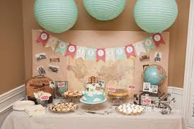 travel themed table decorations baby shower cake table decoration ideas luxury tag archive for