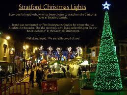 stratford girls turning on stratford u0027s christmas lights