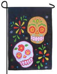 Sugar Skulls For Sale Sugar Skulls Double Applique Garden Flag For Sale