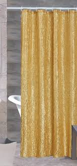Brown And Gold Shower Curtains Sherry Luxurious Crushed Satin Fabric Shower Curtain Gold Beige