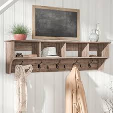 wall mounted coat racks u0026 hooks you u0027ll love wayfair