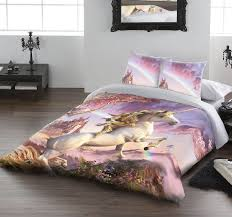 awesome unicorn duvet cover set for uk double us twin bed by