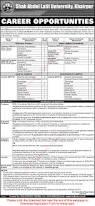 Jobs Economics Degree by Shah Abdul Latif University Khairpur Jobs 2017 April May