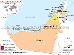 uae map political map of united arab emirates uae