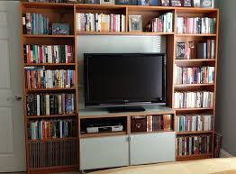 Small Billy Bookcase Billy Library To Entertainment Center Ikea Hackers Ikea Hackers