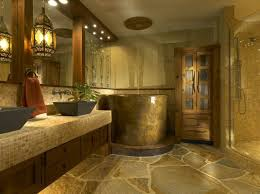 master bathroom wall decor natural stone concrete bathtub wall