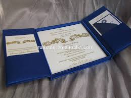 wedding invitations in a box navy blue folio wedding invitation box buy royal blue pocketfold