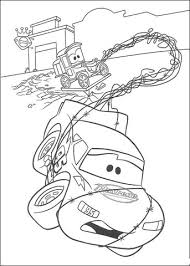 lightning mcqueen and lizzie coloring page free printable