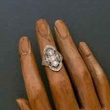 art deco ring 1930s ring filigree sterling silver more art