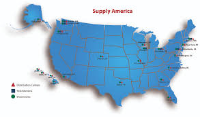 Boston And New York Map by Supply America Distribution