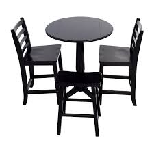 small black round table 59 off counter black round table with chairs and stool tables