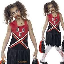 Zombie Cheerleader Girls Zombie Cheerleader Costume High Halloween Fancy Dress