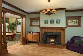 decorating oak woodwork taupe blue living room dining room paint